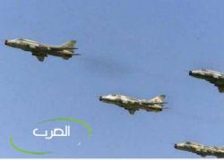 قاعدة القرضابية الجوية بمدينة سرت الليبية تتعرض لقصف جوي