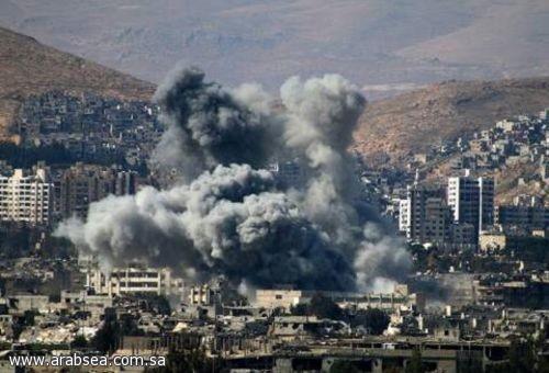 انفجار ضخم بالقرب في محيط مطار دمشق