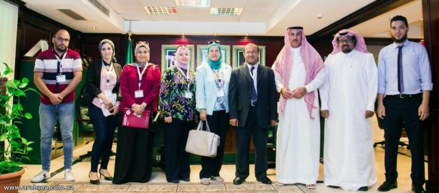 د.النامي يبحث تعاون الملحقية الثقافية السعودية مع جامعة طنطا
