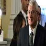 الرئيس المصري عدلي منصور : يعدّل خريطة الطريق وانتخابات الرئاسة تسبق البرلمان