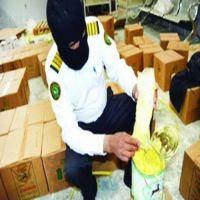 ضبط 571 ألف حبة «كبتاغون» بإرسالية سمن نباتي