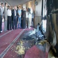 إضرام النيران في مسجد في الضفة الغربية المحتلة