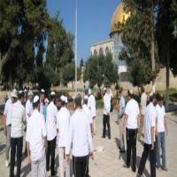 مستوطنون متطرفون يقتحمون المسجد الأقصى ويشددون إجراءات دخوله