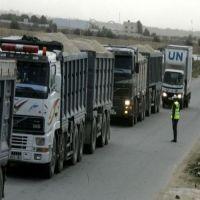 """إدخال 760 شاحنة بضائع ومواد بناء لغزة عبر """"كرم أبو سالم"""""""