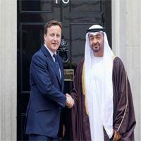 كاميرون يناقش مع ولي عهد أبوظبي الوضع في الشرق الأوسط