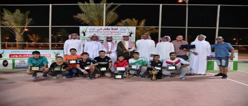 تتويج محمد عبدالكريم بطلا في ختام بطولة التنس الارضي بالاضارع وتكريم الجهات المشاركة