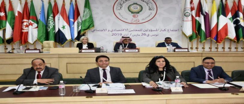 في إجتماع للمجلس الاقتصادي والاجتماعي لجامعة الدول العربية