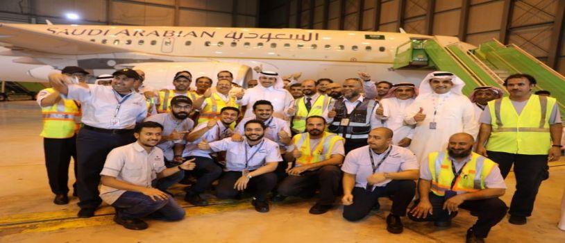 الخطوط السعودية تتم تحديث أسطول من طائرات (A320) وتزويدها بتقنية الاتصالات الفضائية المتقدمة