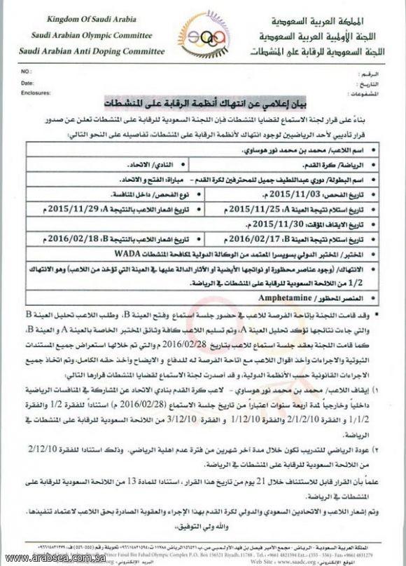رسميا.. «المنشطات» توقف محمد نور لمدة 4 سنوات